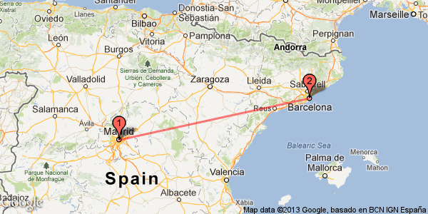 Madrid and Barcelona experience with AVE high speed train in Spain