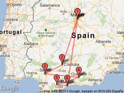 Andalusia train tour