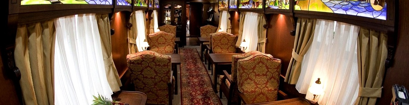 Enjoy luxury restaurant seating for the meals that are served onboard
