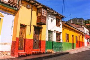 Colorful Facades are the Highlight of La Candelaria