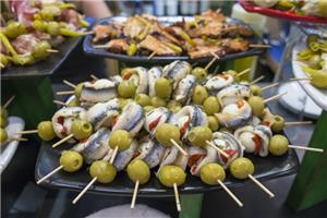 Pintxos are being served