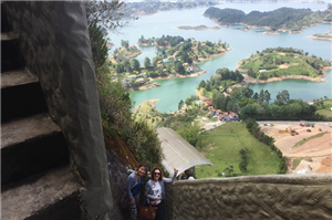 Climbing the Rock of Guatape