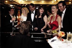 Socialize in the Bar Car