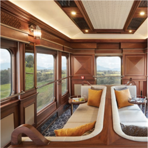 Lounge onboard the Train