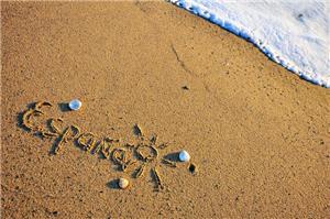 Beautiful sandy beach in San Sebastian