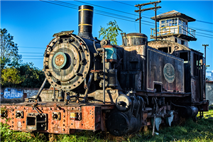 Old Locomotive in Savannah Station