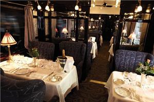 Experience Fine Dining in One of Three Dining Carriages