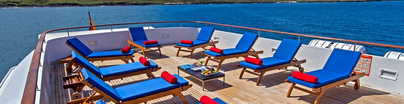 Relax on the sun deck after daily excursions