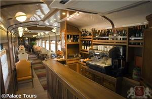stocked bar on board