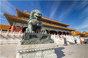 Chinese Guard Lion on the Forbidden City