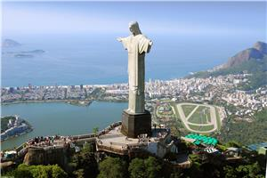 A view of Brazil's Christ the Redeemer Statue