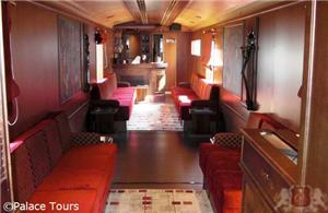 Pub car on board the train