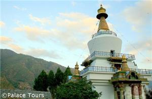 National Memorial Chorten at sunset, Thimphu