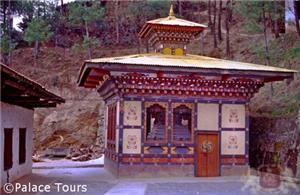 Stupa at the Cheri Monastery, Paro