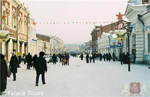 Downtown Irkutsk in winter