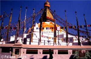 Boudhanath, the largest spherical stupa in Nepal