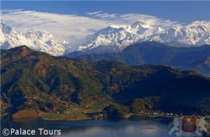 The Anapurna range from Pokhara