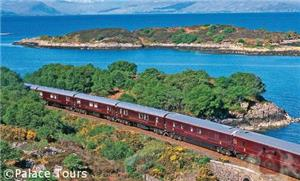 The Royal Scotsman at Loch Carron in the North West Highlands