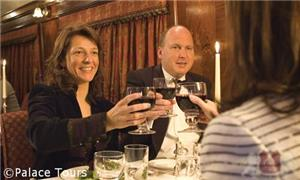 A formal dinner aboard The Royal Scotsman