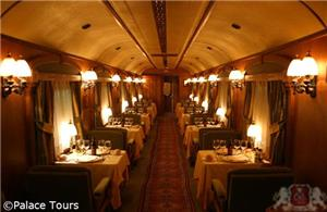 Lounge Car on board the train