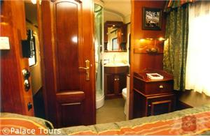 Interior of the suite on board the train