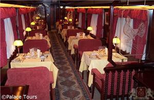 Dining Lounge on board the train