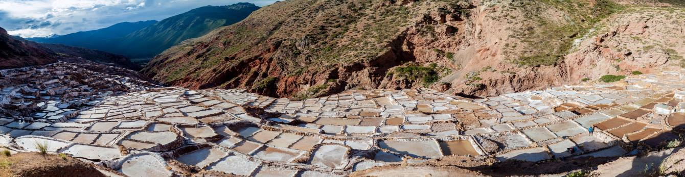 A coveted inland good in Sacred Valley is salt - Salt extraction pans