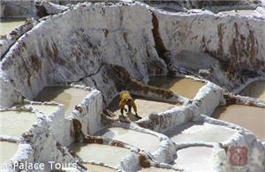 The age-old terraced salt mines in Maras