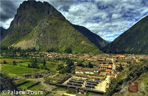 Drive past ancient farming terraces to reach the town of Ollantaytambo