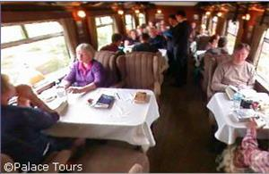 Dining Car on board the Andean Explorer