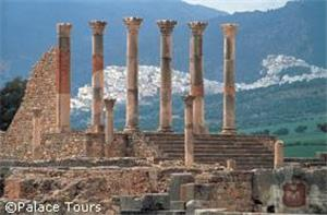 Volubilis is home to the best preserved ancient Roman ruins in Northern Africa