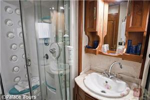 En-suite bathroom on board El Transcantabrico
