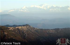 Mount Kanchenjunga and Darjeeling as seen from Tiger Hill