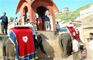 Elephant ride to Amber Fort, Jaipur