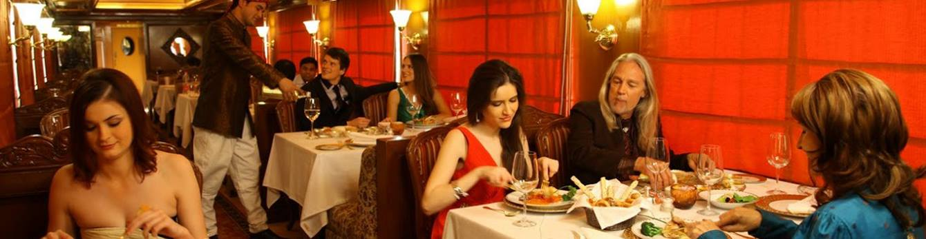 Enjoy lavish dining aboard the Maharajas Express