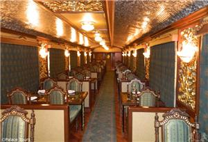 Dining Car on board the Maharajas Express