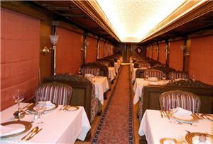 Restaurant Car on board Maharajas Express