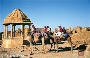 Camel ride on the sands of Jaisalmer