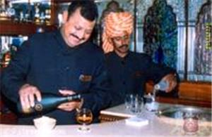 The bar on board Palace on Wheels