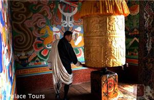 As the Prayer Wheel spins, the prayers fly to heaven