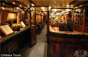 Dining - Bar car onboard Al-Andalus train