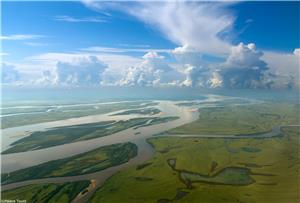The Amur River leaves a massive watershed in north Asia
