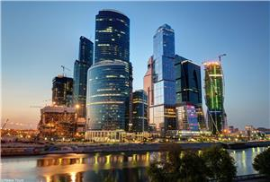 The modern, international business center in Moscow