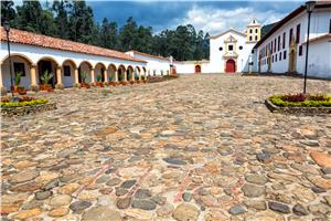 Cobblestone Surrounding Church