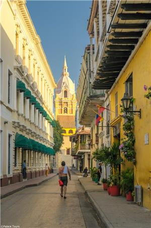 View from a Street in Cartagena